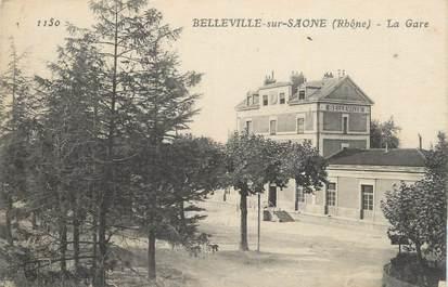 ". CPA  FRANCE 69 ""Belleville sur Saône, La gare"""