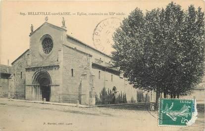 ". CPA  FRANCE 69 ""Belleville sur Saône, Eglise"""