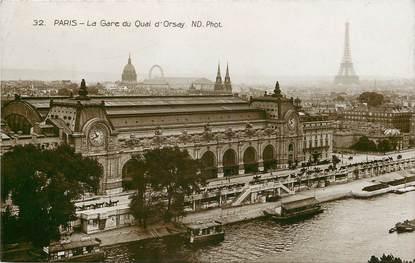 """CPA FRANCE 75007 """"Paris, la Gare du Quai d'Orsay"""""""
