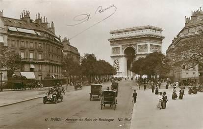 """CPA FRANCE 75016 """"Paris, avenue du Bois de Boulogne"""""""