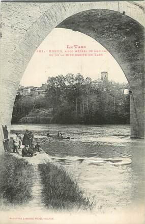 """CPA FRANCE 81 """"Brens, Vue de la rive droite du Tarn""""."""