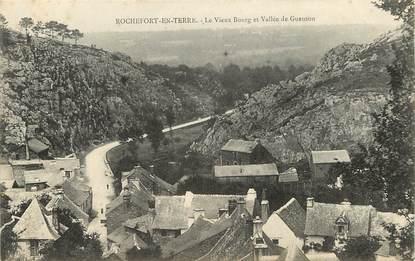 """CPA FRANCE 56 """"Rochefort en Terre, le vieux bourg et la vallée du Gueuson"""""""