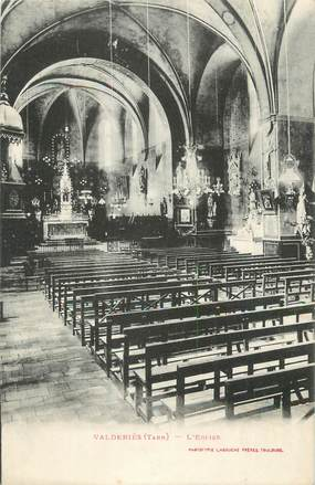 "CPA FRANCE 81 ""Valderiès, L'église""."