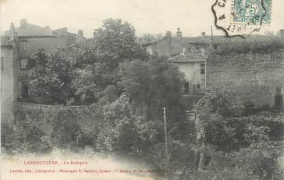"""CPA FRANCE 81 """" Labruguière, Le rempart""""."""