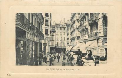 """CPA FRANCE 83 """"Toulon, la Rue Emile Zola, Corsets Bonneterie"""""""
