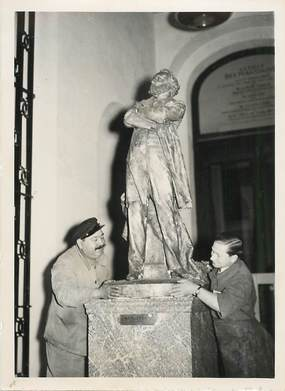 "PHOTO ORIGINALE / THEME ""Bibliothèque Nationale, statue du grand tribun, 1938"""