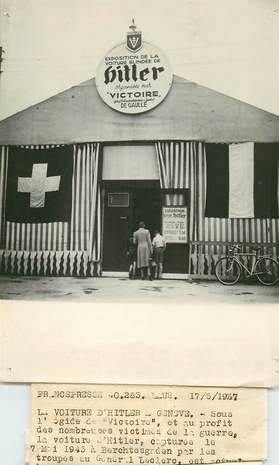 """PHOTO ORIGINALE / THEME """"Genève, 1947, La voiture d'Hitler"""""""