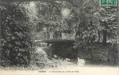 """CPA FRANCE 81 """"Castres, La passerelle du jardin du mail"""""""