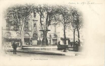 """CPA FRANCE 81 """"Castres, La place nationale""""."""