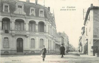 """CPA FRANCE 81 """"Castres, Avenue de la gare"""""""