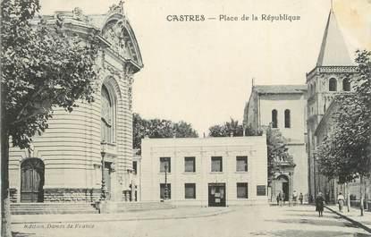 """CPA FRANCE 81 """"Castres, Place de la République"""""""