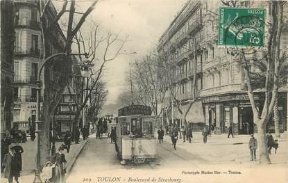 """CPA FRANCE 83 """"Toulon, Bld de Strasbourg  """""""