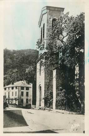 """CPSM FRANCE 81 """"Vabre, Le temple et la Gendarmerie."""