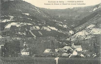 """CPA FRANCE 01 """"Virieu le Petit, Hameau du Munet et massif du Grand Colombier""""."""