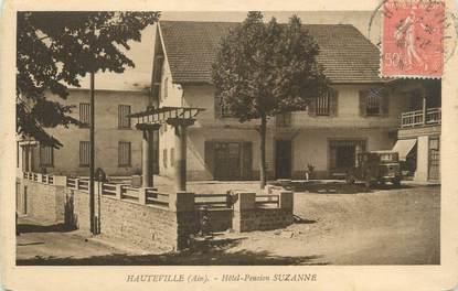 """CPA FRANCE 01 """"Hauteville, Hôtel Pension Suzanne""""."""