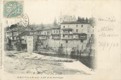 """CPA FRANCE 01 """"Neuville sur Ain, Le barrage""""."""