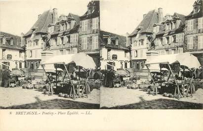 """CPA FRANCE 56 """"Pontivy, Place Egalité"""""""