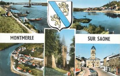 """CPSM FRANCE 01 """"Montmerle sur Saône, Vues""""."""