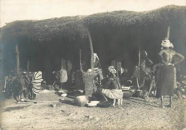 """PHOTO ORIGINALE / AFRIQUE """"Préparation du couscous"""""""