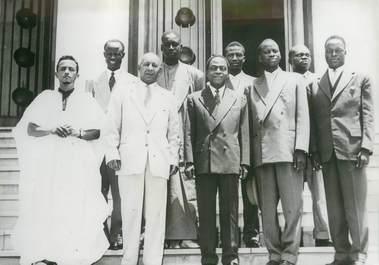 """PHOTO ORIGINALE / AFRIQUE """"Côte d'Ivoire, le bureau du grand conseil de l'AOF"""""""