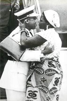 """PHOTO ORIGINALE / AFRIQUE """"1960, Léopoldville, le Président Kasavubu et son épouse"""""""