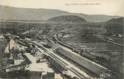 "CPA FRANCE 01 "" Culoz, Quartier de la gare""."