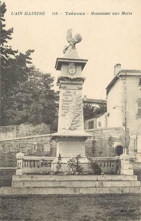 """CPA FRANCE 01 """" Trévoux, Monument aux morts""""."""