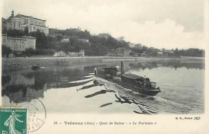 "CPA FRANCE 01 "" Trévoux, Quai de Saône ""."