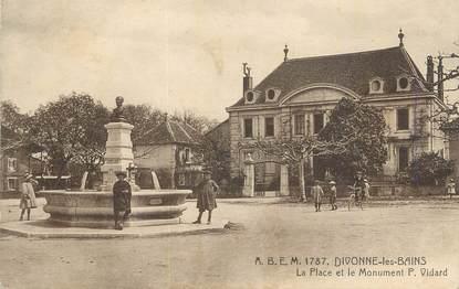 """CPA FRANCE 01 """" Divonne les Bains, La place et le monument """"."""
