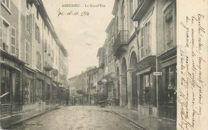 """CPA FRANCE 01 """" Ambérieu, La grande rue""""."""