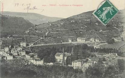"""CPA FRANCE 01 """" Tenay, Le château et Changepout""""."""