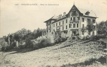 """CPA FRANCE 73 """"Challes les Eaux, Hôtel de Châteaubriand""""."""