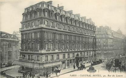 """CPA FRANCE 75001 """"Paris, Central Hotel , rue du Louvre"""""""