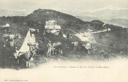 """CPA FRANCE 73 """"Aix les Bains, Plateau du Revard, chaine du Mont Blanc """"."""