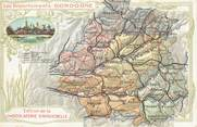 24 Dordogne CPA FRANCE 24 / Carte du Département