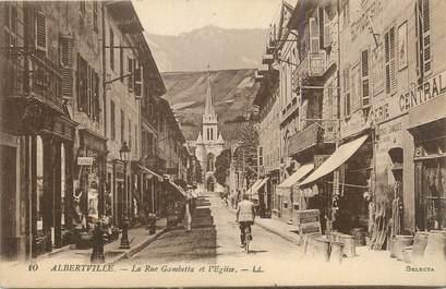 "CPA FRANCE 73 ""Albertville, Rue Gambetta et église"""