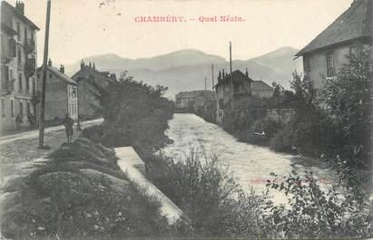 """CPA FRANCE 73 """"Chambéry, Quai Nézin""""."""