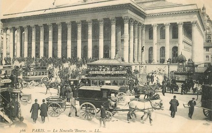 """CPA FRANCE 75002 """"Paris, la Nouvelle Bourse"""""""