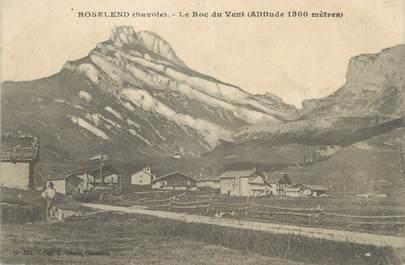 """CPA FRANCE 73 """"Roselend, Le roc du vent """"."""