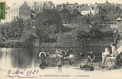 "CPA FRANCE 56 ""Rochefort en Terre, L'Abreuvoir"""