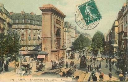 """CPA FRANCE 75002 """"Paris, le Boulevard Saint Denis"""""""