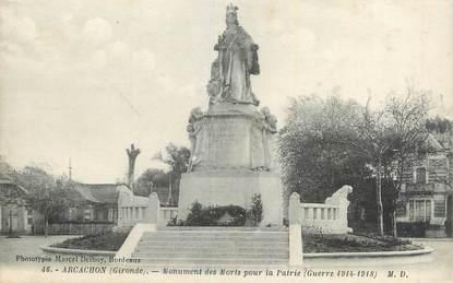 "CPA FRANCE 33 ""Arcachon, Monument aux morts ""."