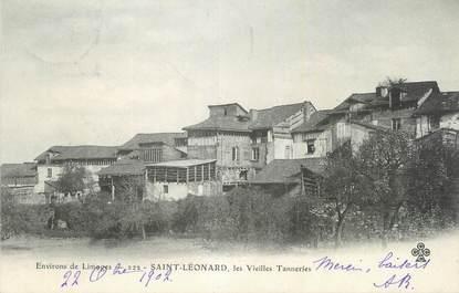 """CPA FRANCE 87 """"St Léonard , Les vieille tanneries""""."""