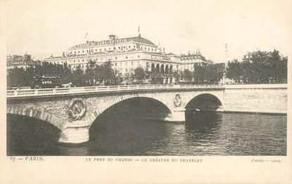 """CPA FRANCE 75001 """"Paris, Le Théâtre du Chatelet"""""""