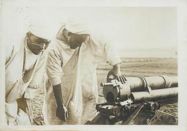 """PHOTO ORIGINALE / MAROC """"Marocains devant un canon des montagnes de l'artillerie"""""""