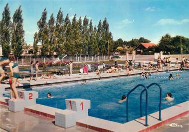 Cpsm france 18 les aix d 39 angillon la piscine 18 cher for Piscine a chatelet