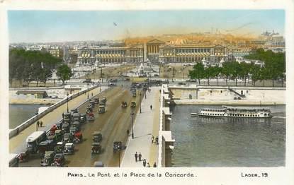 """CPSM FRANCE 75001 """"Paris, le Pont et la Place de la Concorde"""""""
