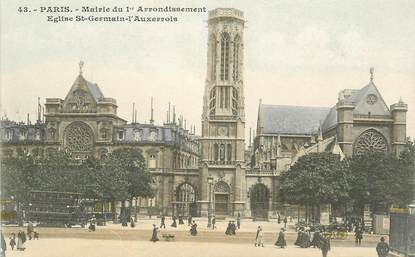 "CPA FRANCE 75001 ""Paris, mairie et Eglise Saint Germain l'Auxerrois"""