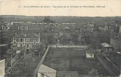 """CPA FRANCE 91 """"Villa Draveil, Vue prise de la terrasse du Petit Castel""""."""