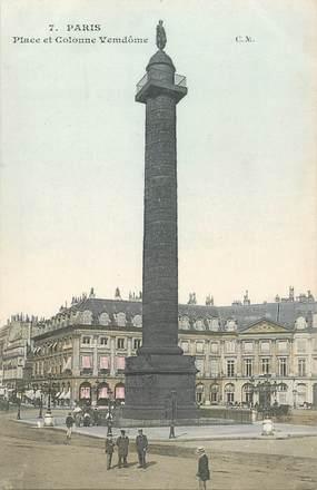 """CPA FRANCE 75001 """"Paris, Place et colonne Vendôme"""""""